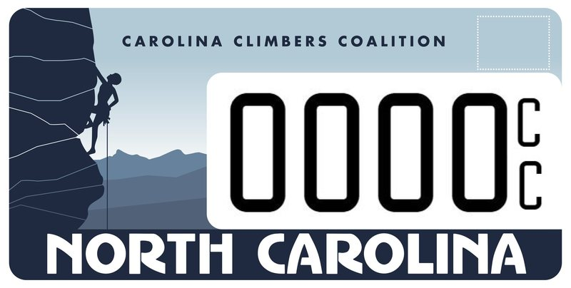 Rock Climbing Photo: CCC License plate design