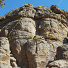 Right side of the west face of the East Block.<br> <br> 6. Unknown Slab (?).<br> 7. Unknown Sport Route (5.7).