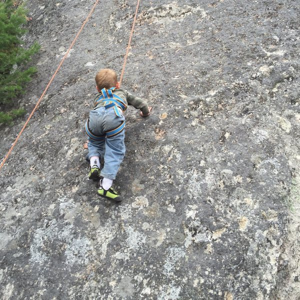 Rock Climbing Photo: 3yo