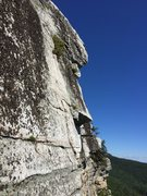Rock Climbing Photo: The white rock at the end of this route is the bes...