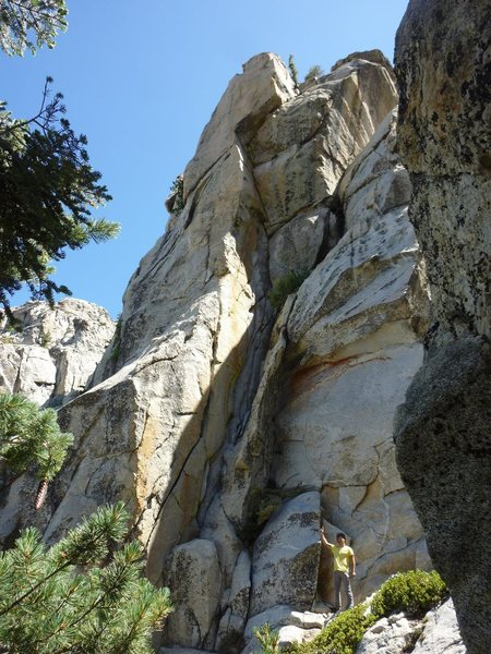 Rock Climbing Photo: The West Face of The Sun Dial!!!