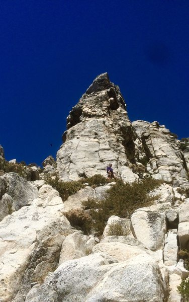 Senior Norwood @ da base of The Pillar of Destiny after the 2nd ascent of The Black Death!!!