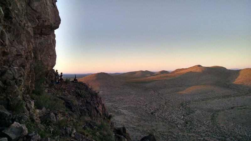 Rock Climbing Photo: Golden hour at the Rough n Ready Hills
