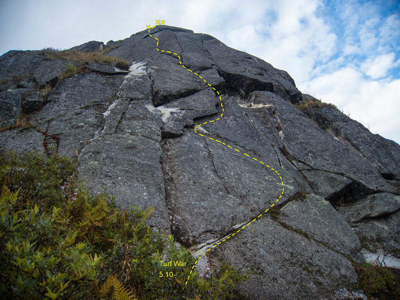 Rock Climbing Photo: Turf War