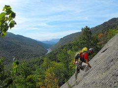 Rock Climbing Photo: Beautiful scenic views and spacious top area perfe...