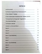 Rock Climbing Photo: Table of Contents from route book