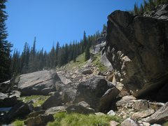 Baker Lake Boulders from the Trail