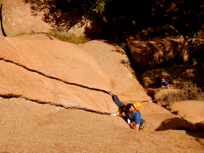 Rock Climbing Photo: Down low on the route.