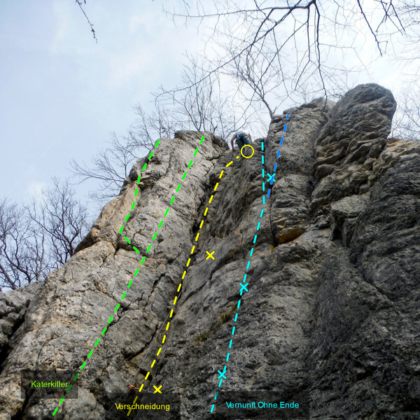 This is the first crag you reach from the parking lot.