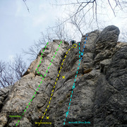 Rock Climbing Photo: This is the first crag you reach from the parking ...
