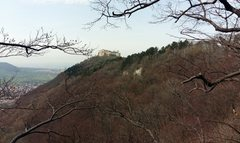 Rock Climbing Photo: Burg Hohenneuffen (castle) as seen from the top of...