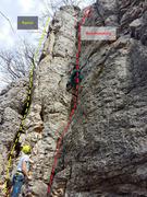 Rock Climbing Photo: CLimbing the easy corner