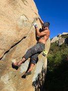 Rock Climbing Photo: Classic South Woodson traverse!!