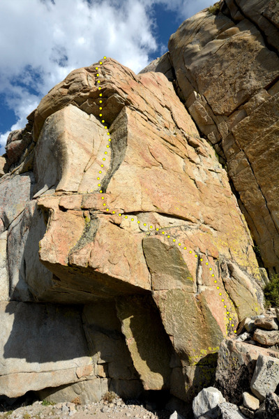5.6 Roof to Dihedral Route at Spillway Crag