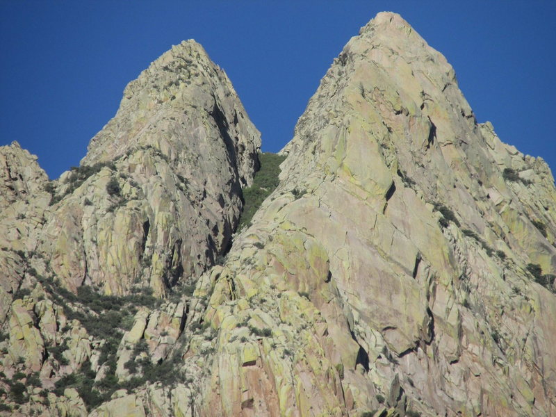 Lost Peak on the left, next to the Wedge on the right. View from the west.