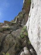 Rock Climbing Photo: Drew coiling rope before scrambling down the ramp ...