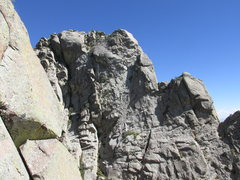 Rock Climbing Photo: North face of the Wedge as seen from the West Ridg...