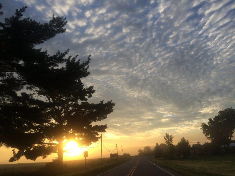 sunrise near devils lake, wi