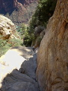 Rock Climbing Photo: looking down one of the upper ramps