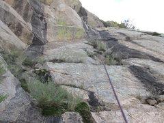 Rock Climbing Photo: Start of Pitch 3.