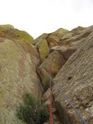 Rock Climbing Photo: The roof on Pitch 2.