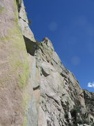 Rock Climbing Photo: Summit and the south face of the Wedge as seen fro...