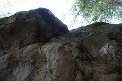 Rock Climbing Photo: The exit of Bull Mastif.