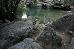 Rock Climbing Photo: Treasure Chest is directly behind me.  Swimming ho...