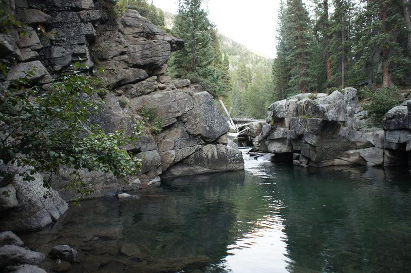 Rock Climbing Photo: Swimming hole.