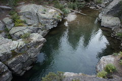 The top of the swimming hole.
