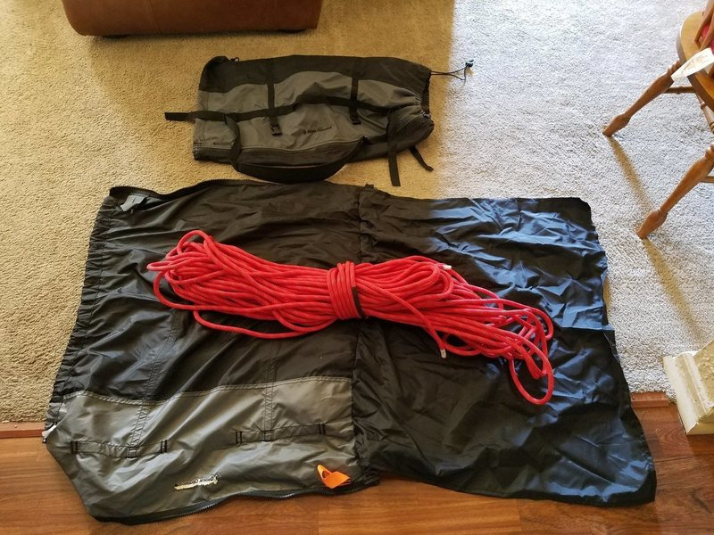 Rock Climbing Photo: Rope and bags