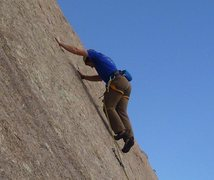 Rock Climbing Photo: Me on Cold Finger at Fall Wall in Vedauwoo