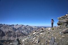 Rock Climbing Photo: Sara on the ridge.