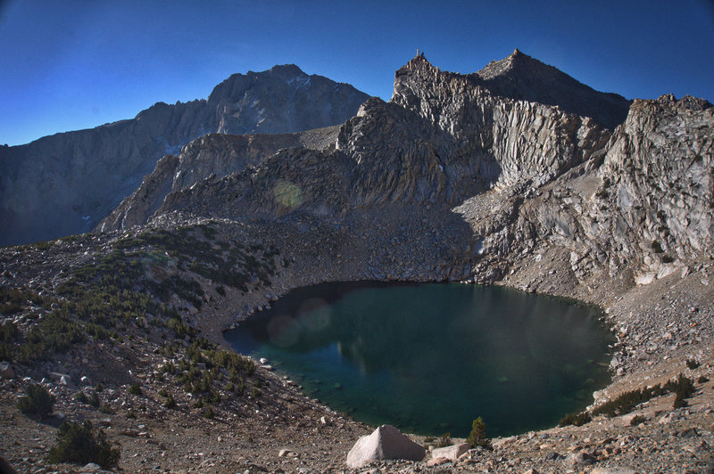Big Pothole Lake, on the way to Kearsarge Pass.