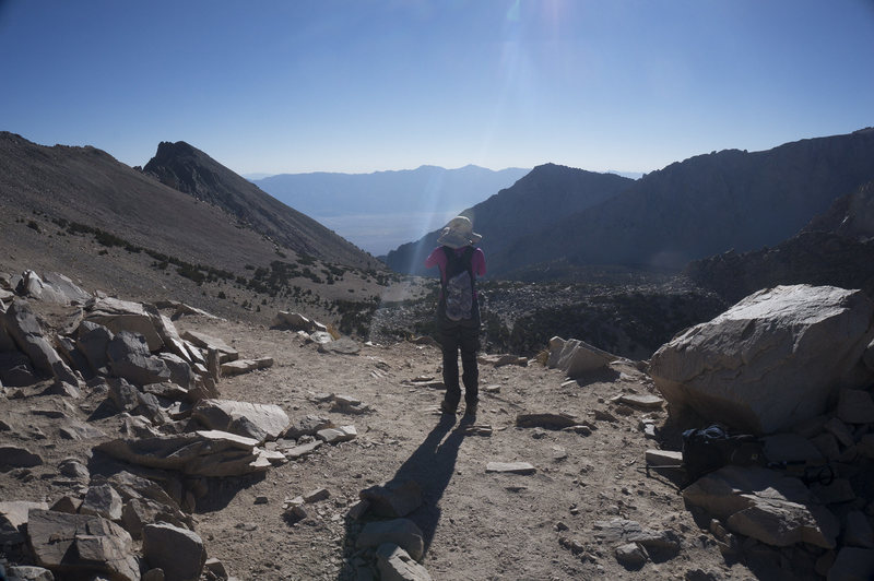 Rock Climbing Photo: Looking back to Onion Valley from Kearsarge Pass.