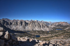 Rock Climbing Photo: Looking west from Kearsarge Pass.