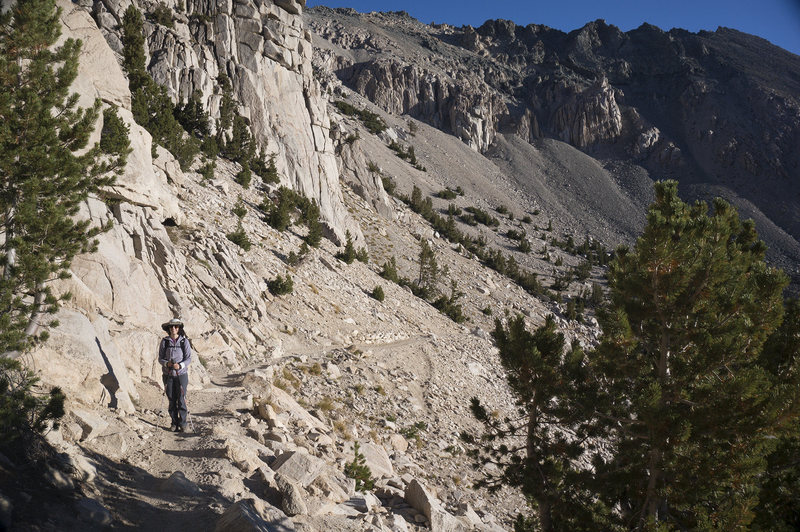 Rock Climbing Photo: Sara on the Kearsarge Pass Trail.
