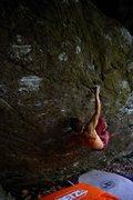 Rock Climbing Photo: Jon Hamilton 12.2 Boulder, Blue Ridge Parkway Beta...