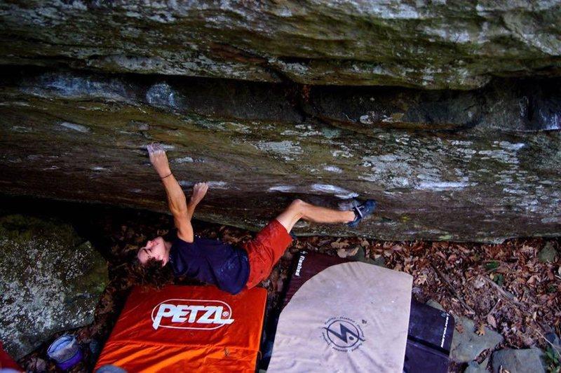 Rock Climbing Photo: Parker Reed 12.2 Boulder, Blue Ridge Parkway Beta ...