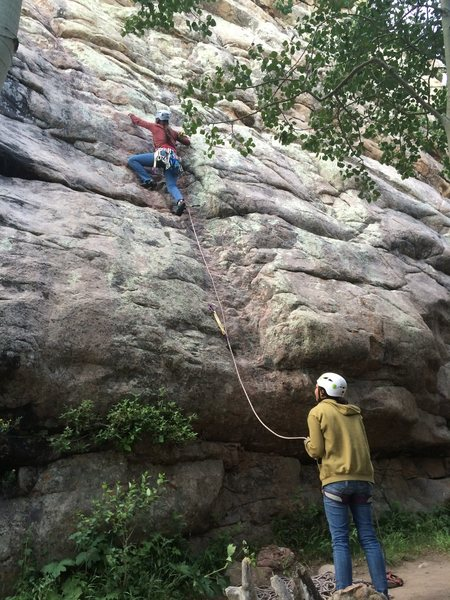 Rock Climbing Photo: Heading up the groove.