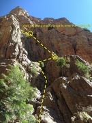 Rock Climbing Photo: The route leading up to the secret slit.
