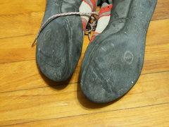 Rock Climbing Photo: soles not very worn