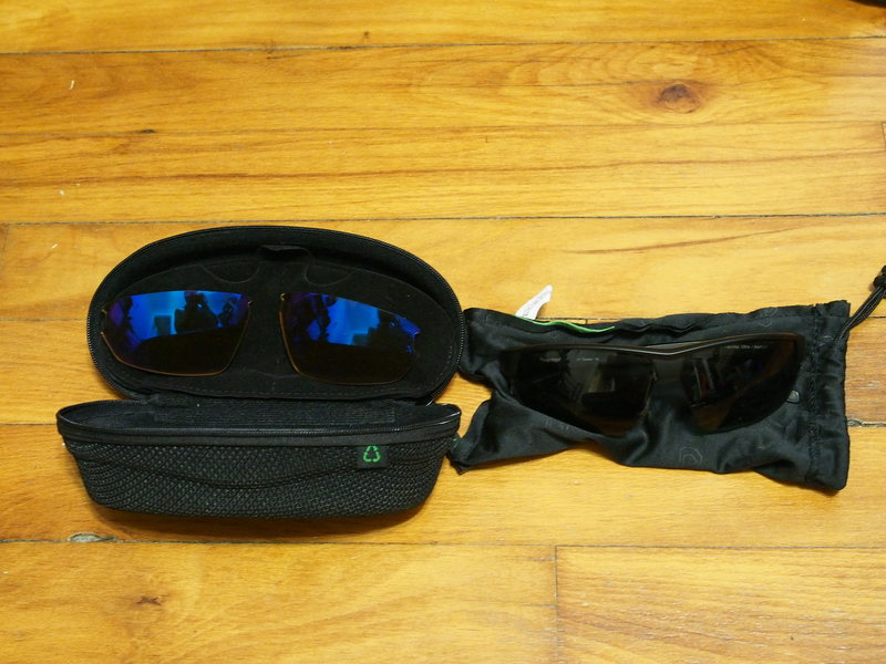 Native Sunglasses w/ case and extra lenses