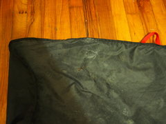 Rock Climbing Photo: small tear in the tarp