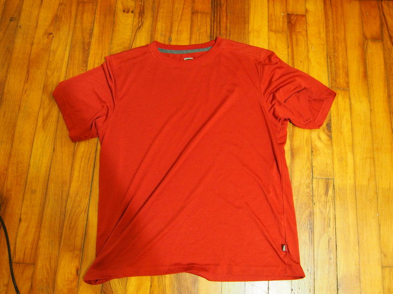 REI med quick-dry shirt. I have two of them one red, one black.