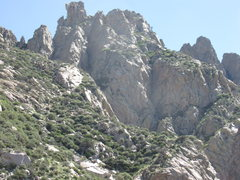 Rock Climbing Photo: Squaretop from the approach to West Ridge of the W...