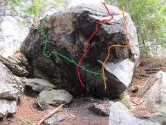 Rock Climbing Photo: Green is Winter is Coming. Red is Should be Good. ...