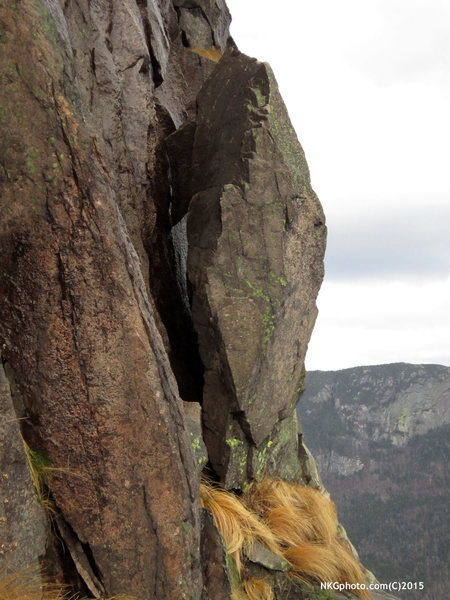 Rock Climbing Photo: hanging out on the ghost.. waiting to fall.....
