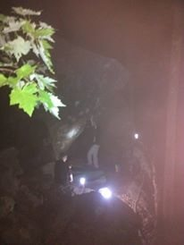 night climbing working some new routes