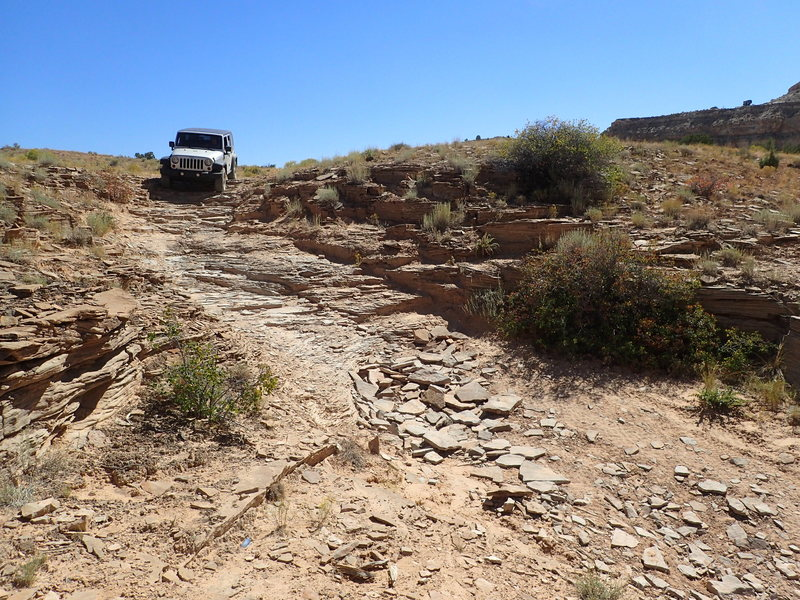 Rock Climbing Photo: This is the driving crux of the Coal Wash Road.  I...